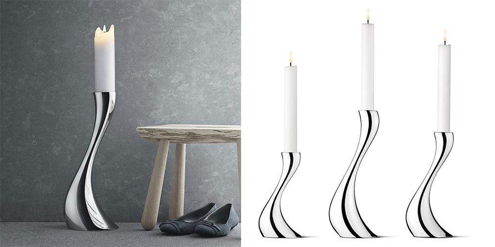 luxusní kovové svícny