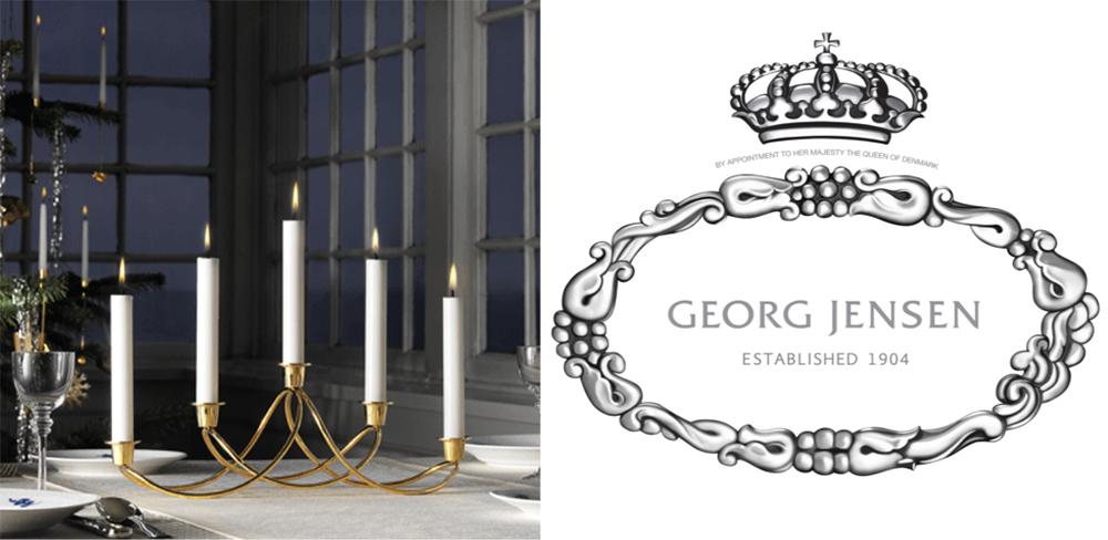 luxusní zlatý svícen