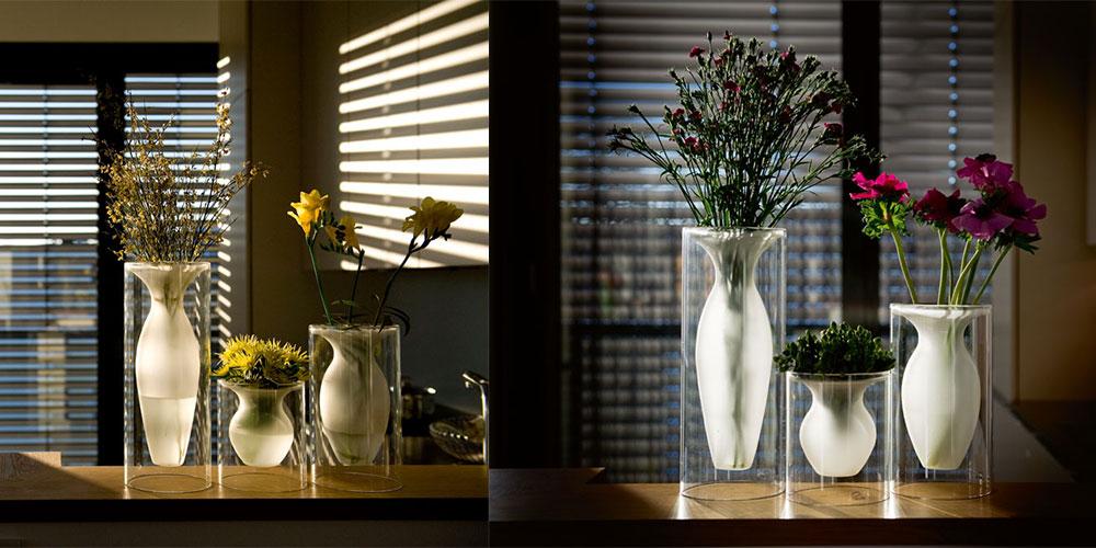 sklenena designova vaza